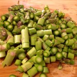Asparagus chopped to 1/2 inch pieces