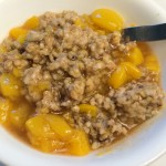 Steel Cut Oats with Peach Compote